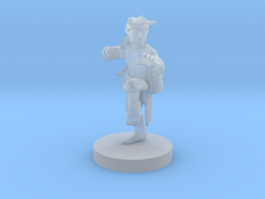 Halfling Monk with Kusarigama in Smooth Fine Detail Plastic