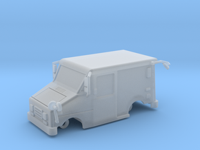 Mail Truck 1-87 HO Scale Filled Windows No Wheels in Smooth Fine Detail Plastic