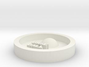 DIY key ring baseball in White Natural Versatile Plastic
