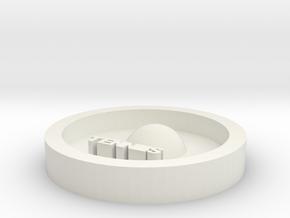 DIY key ring tennis in White Natural Versatile Plastic