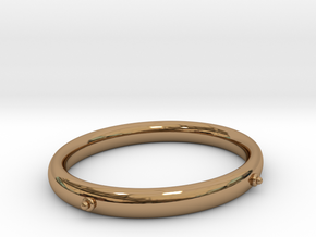Bangle (OVAL)  small in Polished Brass