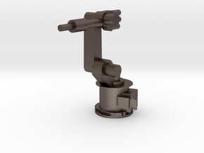 4-Axis Industrial Robot V01 in Polished Bronzed Silver Steel