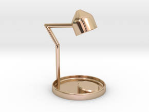 Hippocampus table lamp in 14k Rose Gold: Small