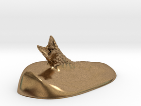 Sandworm in Natural Brass: Small