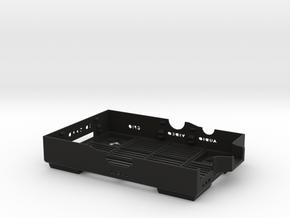 Raspberry Pi B case - bottom in Black Strong & Flexible