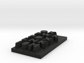 Raspberry Pi B case - top text in Black Natural Versatile Plastic