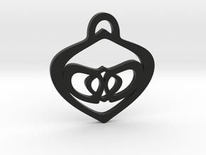 Heart Pendant in Black Premium Versatile Plastic