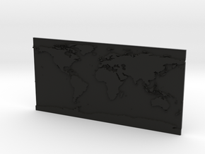 Globe Map in Black Premium Versatile Plastic: Small