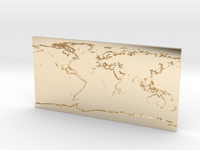 Globe Map in 14k Gold Plated Brass: Small