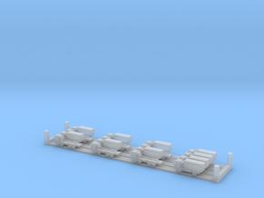 MAN / RMMV HX60 GS trucks (1:1250) in Smooth Fine Detail Plastic: Small