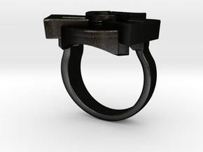 Radioactive ring - original in Matte Black Steel: 7 / 54