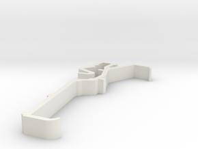 Blind Valance Clip 00151A in White Premium Versatile Plastic