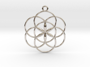 Seed of Life Small Pendant in Platinum