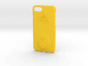 iPhone 7 Wahoo Mount Case - Hill Climb in Yellow Strong & Flexible Polished