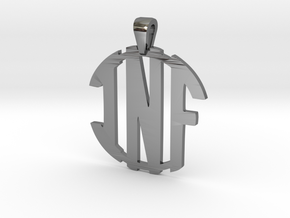inf-monogram-new in Fine Detail Polished Silver