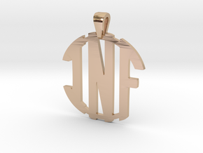 inf-monogram-new in 14k Rose Gold Plated Brass