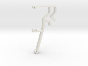 Blind Valance Clip 06 in White Premium Versatile Plastic