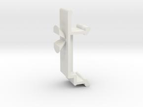 Blind Valance Clip 10B in White Premium Versatile Plastic