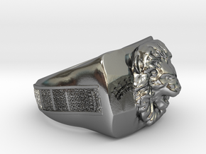 Lion King Ring in Polished Silver: 7 / 54