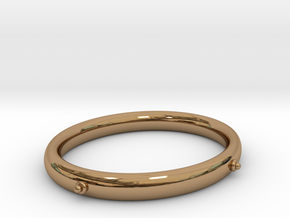 Bangle (OVAL) Medium in Polished Brass