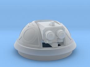 Bubble Canopy Gun - no ornamentation in Smooth Fine Detail Plastic