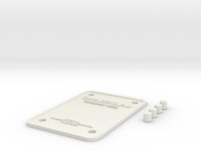 Türschild 150x100 + 4 Klebedübbel in White Natural Versatile Plastic