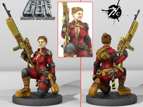 Female Enginner w Sniper (Terran - GBF) in Smoothest Fine Detail Plastic: 28mm