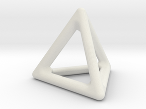 Simply Shapes Pendants Triangle in White Natural Versatile Plastic