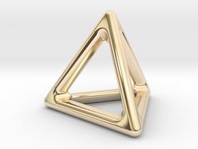Simply Shapes Pendants Triangle in 14k Gold Plated Brass