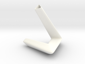 little triangle smooth vase in White Processed Versatile Plastic