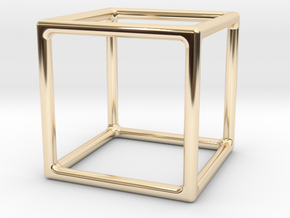 Simply Shapes Homewares Cube in 14K Yellow Gold
