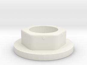 Kappe-Gleiter für DIN 912 M16 Schraube Kunststofff in White Natural Versatile Plastic