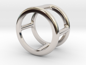Simply Shapes Rings Circle in Rhodium Plated Brass: 3.25 / 44.625