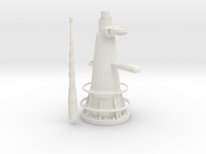1/11 DKM UBoot VIICAttack Periscope w. compass in White Natural Versatile Plastic