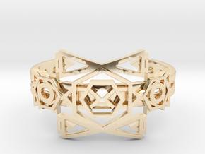 Galactic Transporter Bracelet in 14K Yellow Gold: Medium