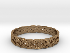 Hieno Delicate Celtic Knot in Natural Brass: 5 / 49