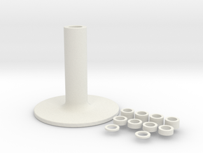 Holder in White Natural Versatile Plastic