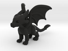 Cynder the Dragon Pendant/charm in Black Premium Strong & Flexible
