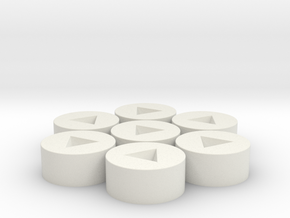7x D4 Inverted Socket in White Natural Versatile Plastic