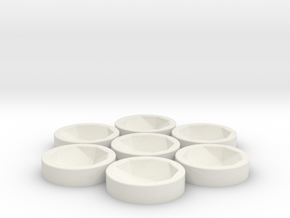 7x D20 Socket in White Natural Versatile Plastic
