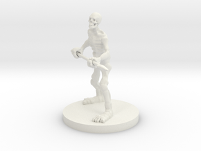 Skeleton with a Spear in White Strong & Flexible