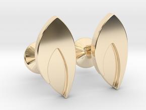 Custom Logo Cufflinks in 14k Gold Plated Brass