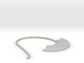 Hoop Earring(SWH1b) in Rhodium Plated Brass