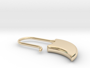 Drop earring small (KB1a) in 14k Gold Plated Brass