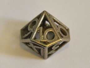 D10 Balanced - Numbers Only in Polished Bronzed Silver Steel