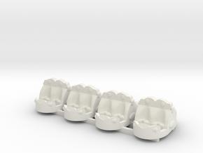 crazy xab  (mini break dance tubs) in White Natural Versatile Plastic