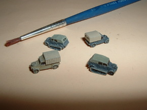 VW Type 82 Kübelwagen Variants 1/285 6mm in Smooth Fine Detail Plastic
