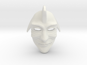 Samurai Mask  in White Natural Versatile Plastic