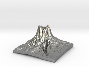 Mountain 3 in Natural Silver: Small