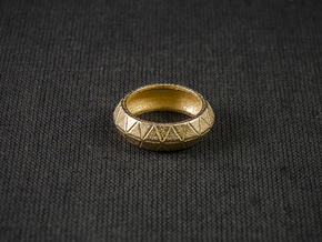 Tri Loop Ring in Polished Gold Steel: 10.25 / 62.125